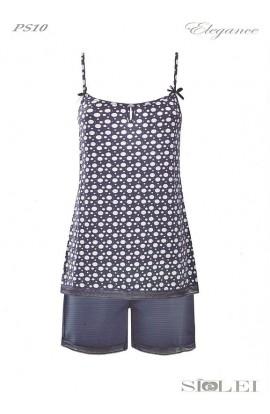 Completino notte per donna pigiama in leggerissimo cotone SièLei PS10