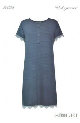 Camicia da notte per donna in morbidissima Viscosa mezza manica SièLei RC24