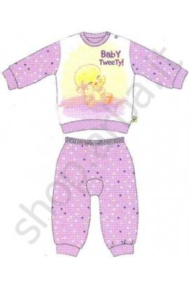 Pigiamino baby Titti cotone leggero primavera estate rosa 401