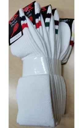 5 Calze da Basket in spugna di cotone gamba lunga taglia unica senza tallone
