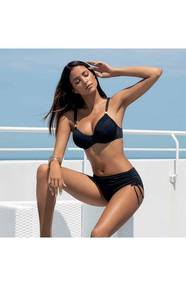 Bikini non imbottito con ferretto coppa D spalline regolabili e slip alto SieLei LU93