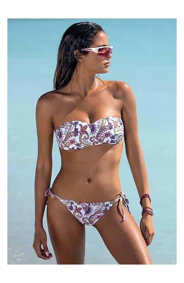 Bikini a Fascia con coppe estraibili e slip non allacciato SièLei HE55