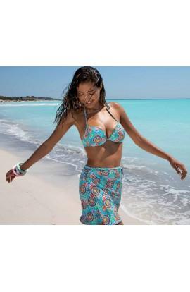 Bikini con ferretto imbottito e slip non annodato SieLei NM54
