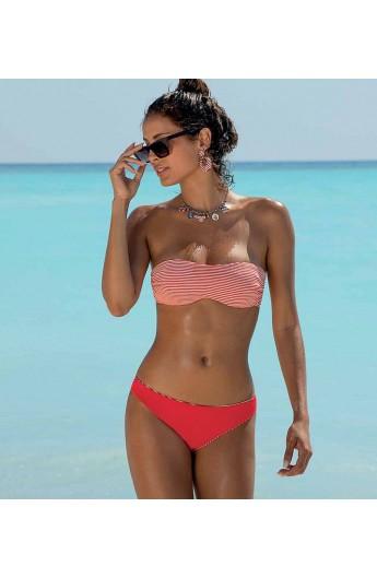 Bikini a fascia non imbottito con ferretto invisibile e slip annodato SièLei DP57