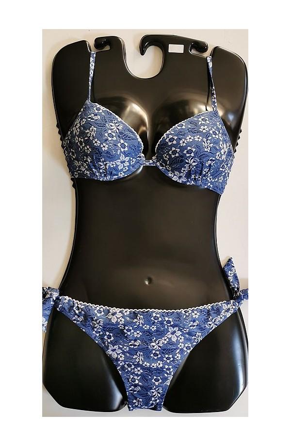 Bikini imbottito con ferretto doppia allacciatura e slip annodato SièLei JQ24