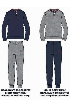 Pigiama 100% cotone uomo pantalone e maniche lunghe Lonsdale 21354