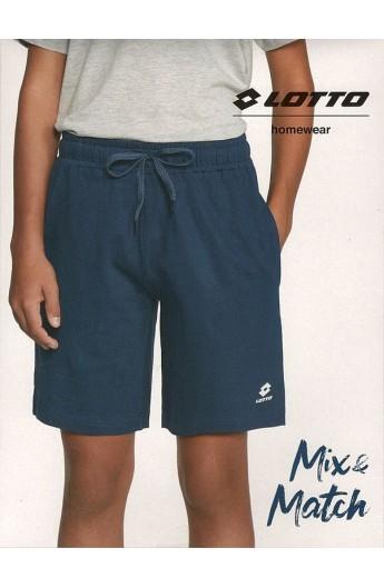 Bermuda per ragazzo 10/14 anni in maglina di cotone con tasche e laccetto Lotto 1301