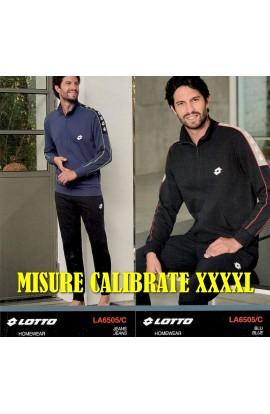 Tuta primaverile calibrata 56-58-60 leggera per uomo tutta aperta puro cotone Lotto LA6505/XL