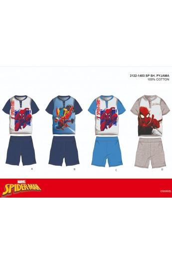 Pigiama corto per bambino da 3 a 8 anni cotone Spiderman 1403
