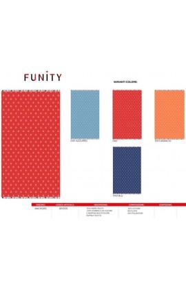 Telo mare con ancore stampate e nappine multicolore Funity