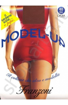 Collant Model-UP push-up modellante solleva glutei a prova di tubino, total shaper