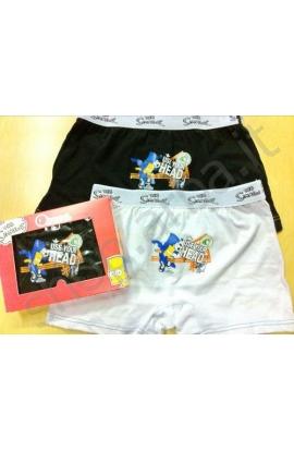 Boxer ragazzo The Simpsons calcio cotone elasticizzato