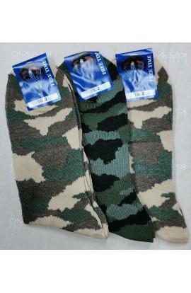 3 Calze corte militari mimetiche per donna cotone 100%