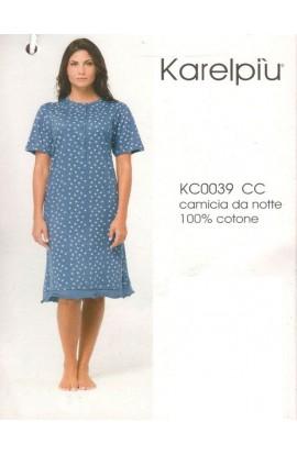 Camicia da notte estiva cotone manica corta Karelpiù KC0039
