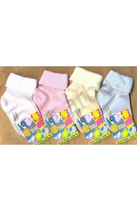Calza Coveri risvolto neonato cotone estivo leggero elastico soft Mammolo