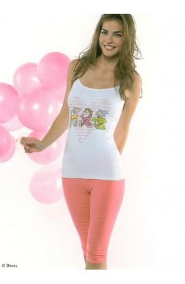 Pigiama Disney per donna spallina stretta e pinocchietto Disney WD20350
