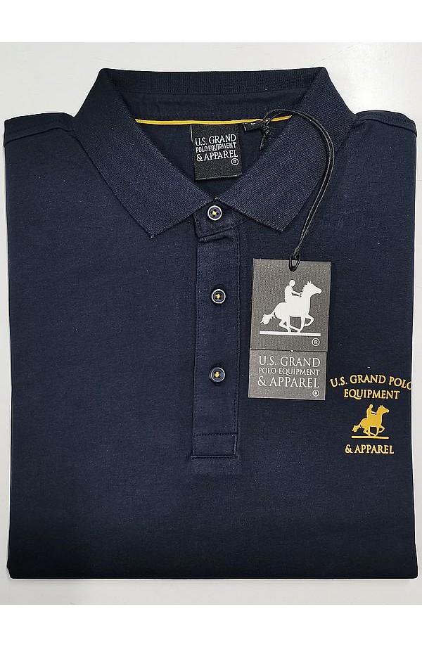 POLO UOMO MANICA LUNGA 100% COTONE U.S. Grand Polo Equipment & Apparel