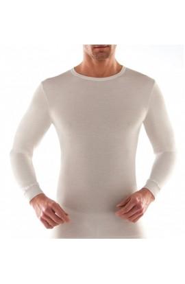 Maglia manica lunga lana fuori cotone sulla pelle intima uomo Liabel 5110 333