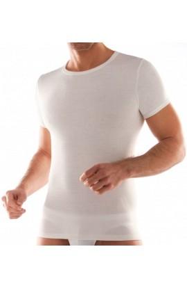 2 maglie uomo misto lana fuori cotone sulla pelle mezza manica intime Liabel 5110 D23