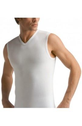 Smanicato uomo in cotone elasticizzato scollo a V Liabel 3858-253