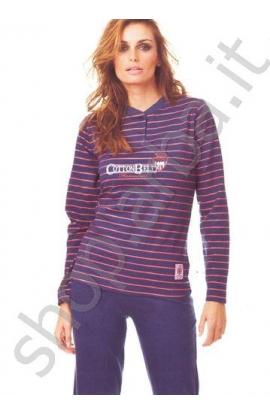 Pigiama donna cotone 100% lungo Cotton Belt art. 35048
