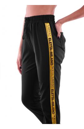 Pantalone donna lucido con banda laterale TM WILL 5,400 lbs ELETTA MILANO 104