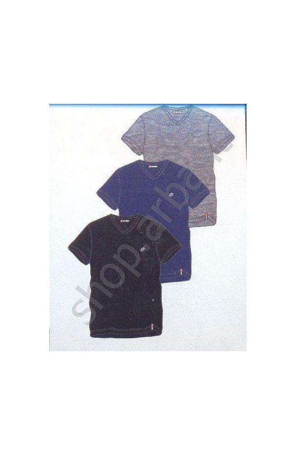 T-shirt uomo elasticizzato LOTTO scollo a V 0052LS