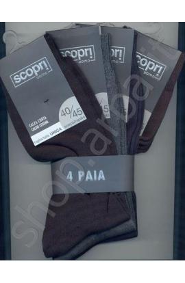 Calza corta per uomo in caldo cotone Pavel confezione da 4 paia
