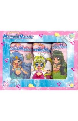 3 Slip Mermaid Melody bambina 100% cotone 3 pezzi