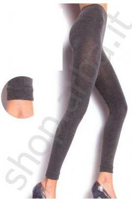 Leggings cotone donna pesante maglia a costine 1508 DB