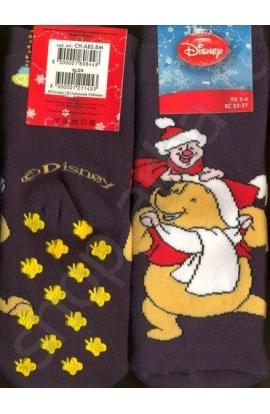 Calza antiscivolo bimbo Winnie The Pooh Natale
