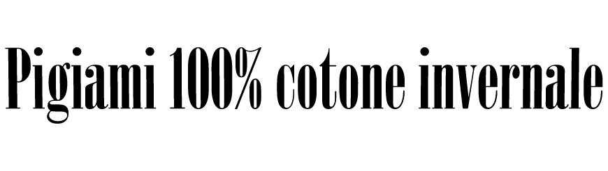 pigiama donna 100% cotone caldo invernale interlock