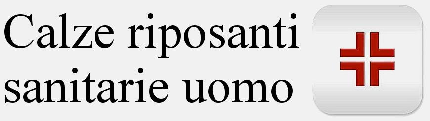 Calze uomo riposanti a compressione graduata sanitarie senza elastico